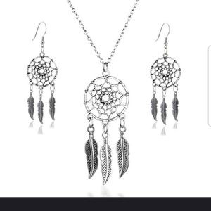 Jewelry - 5️⃣For2️⃣5️⃣ Dream catcher necklace earring set